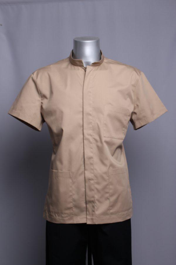 men's blouse sand collor