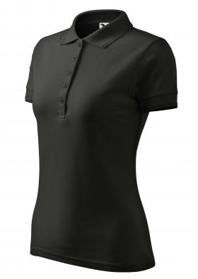 women's polo HELENA black for hairdressers, doctors, spa, wellness