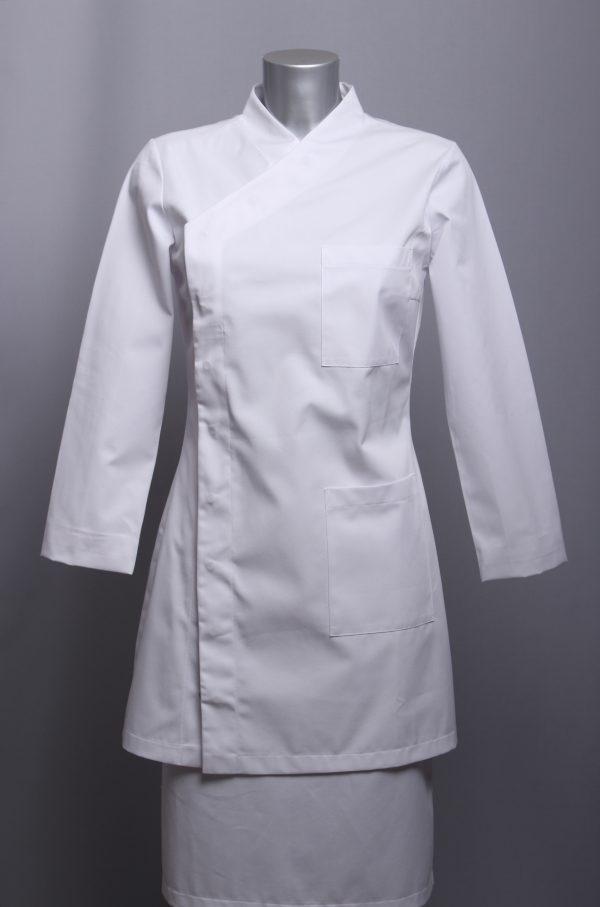 tunika VENERA bijela, dugi rukavi, medicinske kute, kute za liječnice, liječničke uniforme